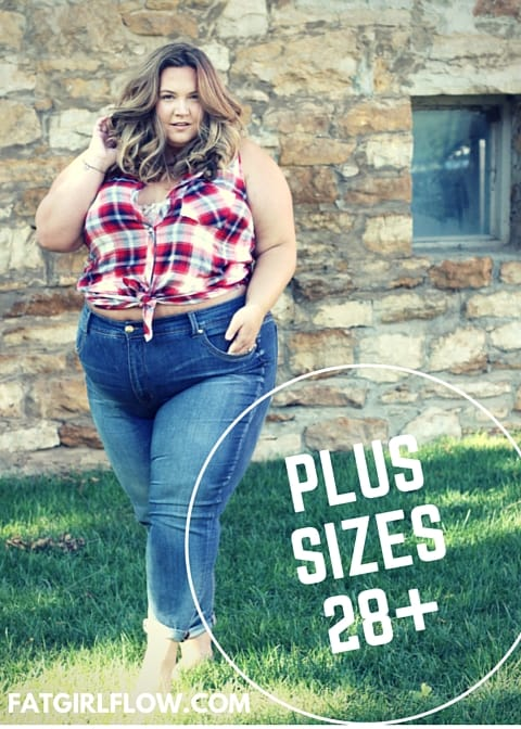 99e960e27beb1 Most plus size retailers would have us believing that anyone over a size 28  is plain outta luck. Yet when I walk down the street I don t see women size  28+ ...