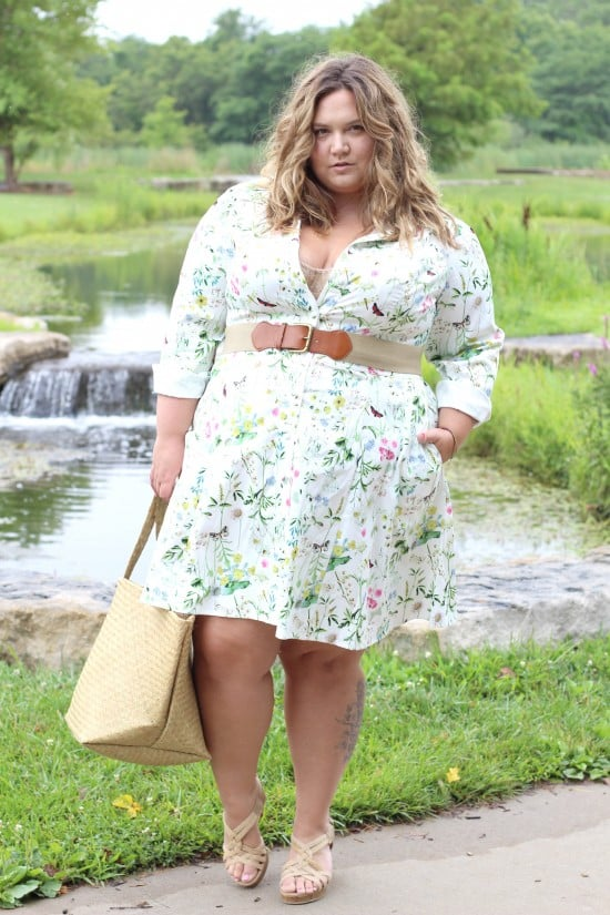Plus Size Shirtdress by Eshakti || Fatgirlflow.com