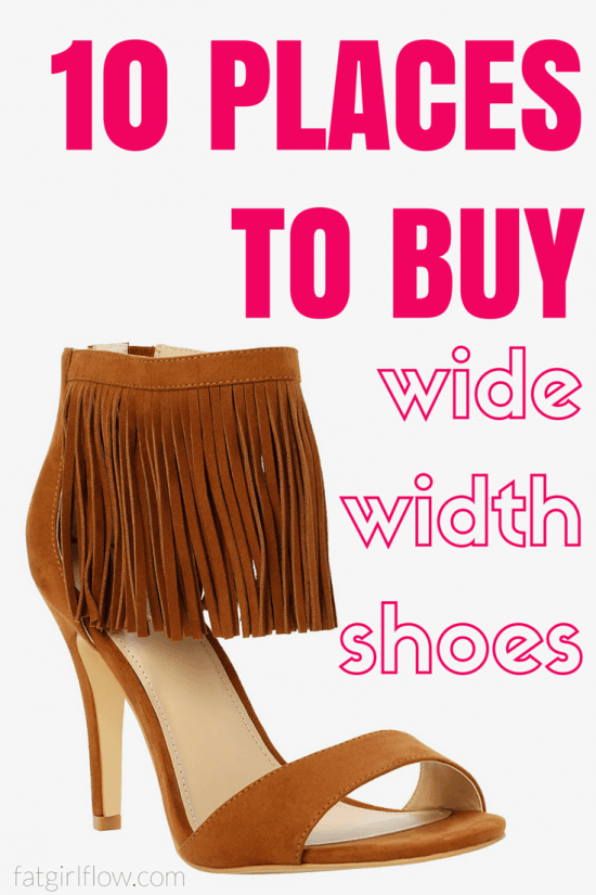 10 Places To Shop For Wide Width Shoes || fatgirlflow.com
