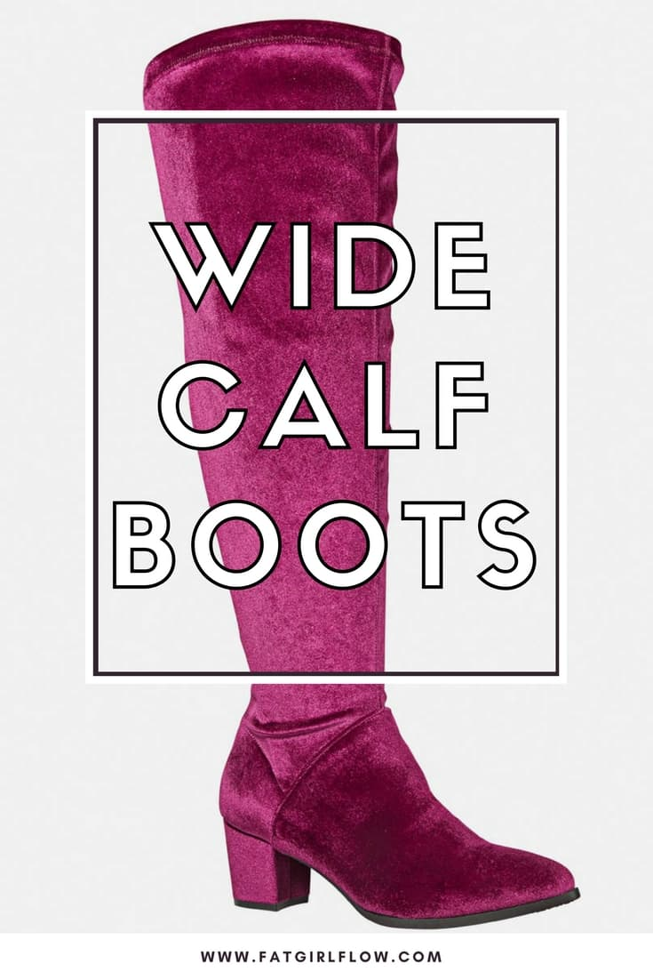 Where To Shop For Plus Size Wide Calf Women's Boots // Fatgirlflow.com