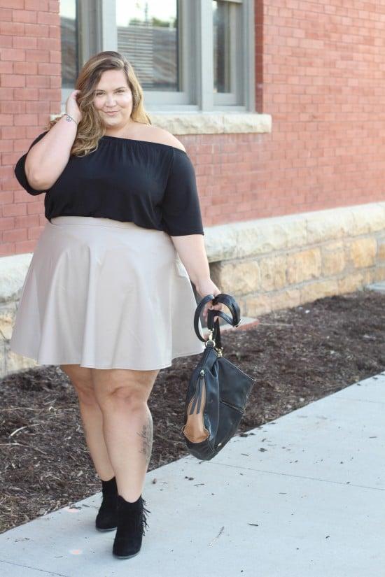 Plus Size Pleather // Fatgirlflow.com