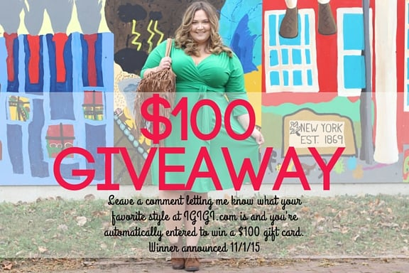 GIVEAWAY With Plus Size Clothing Retailer IGIGI.COM // fatgirlflow.com
