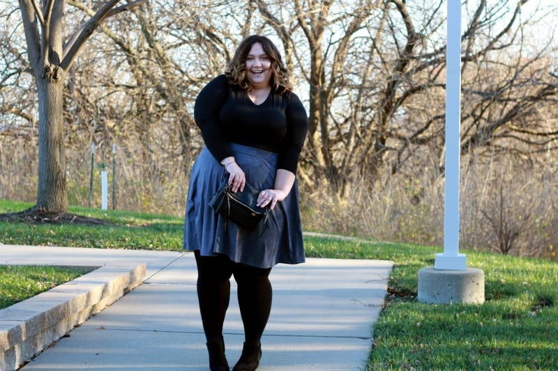 Perfect Plus Size Suede Skirt // Fatgirlflow.com