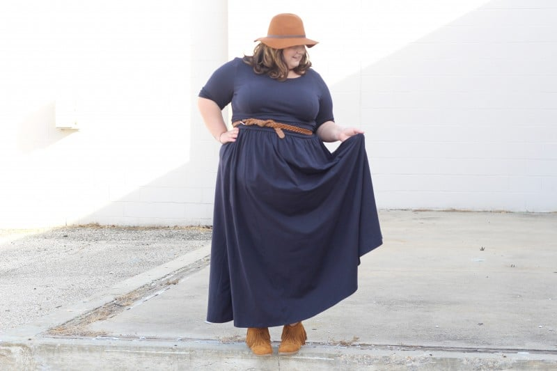How To Wear Your Favorite Summer Maxi In The Winter // fatgirlflow.com