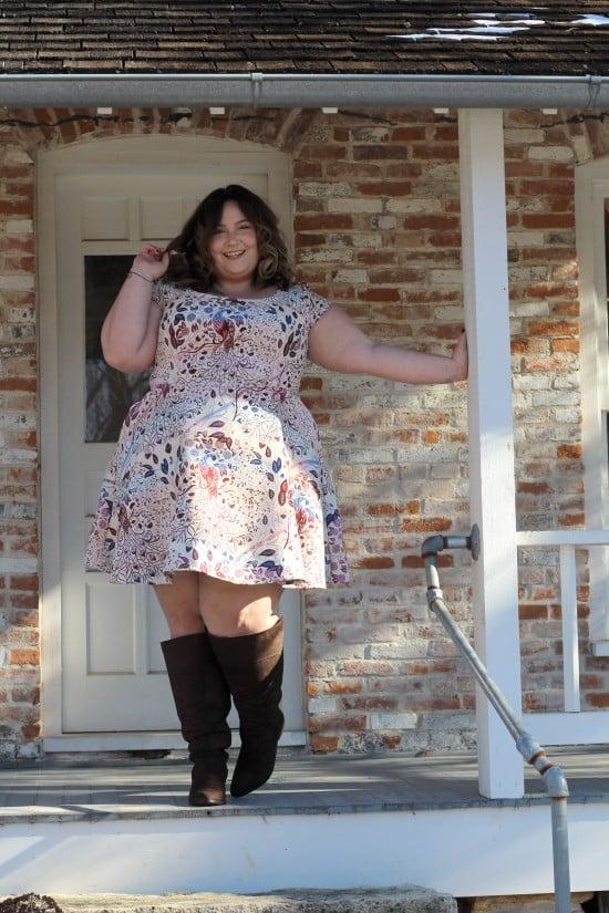 Custom Plus Size Dress From Eshakti.com // Fatgirlflow.com