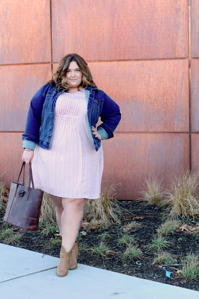 Pretty Pink Plus Size Dress