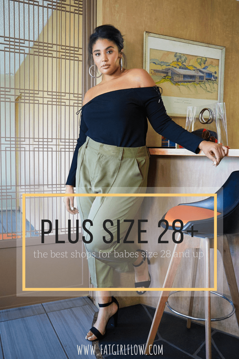 13d87bf0e90 Most plus size retailers would have us believing that anyone over a size 28  is plain outta luck. Yet when I walk down the street I don t see women size  28+ ...