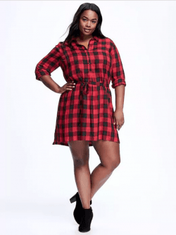 Plus Size Plaid Dress // Fatgirlflow.com