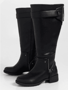 46c40fc3ada Their wide calf boots go up to a generous 21 inches and almost all of them  have a panel of stretch material on them as well. Foot sizes go up to size  12.