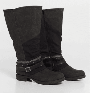 ad5d4d214cc Their wide calf boots go up to a generous 21 inches and almost all of them  have a panel of stretch material on them as well. Foot sizes go up to size  12.
