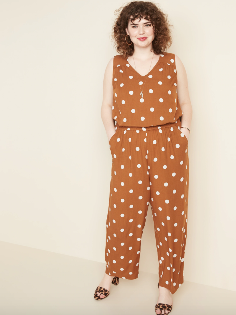 plus size polka dot jumpsuit