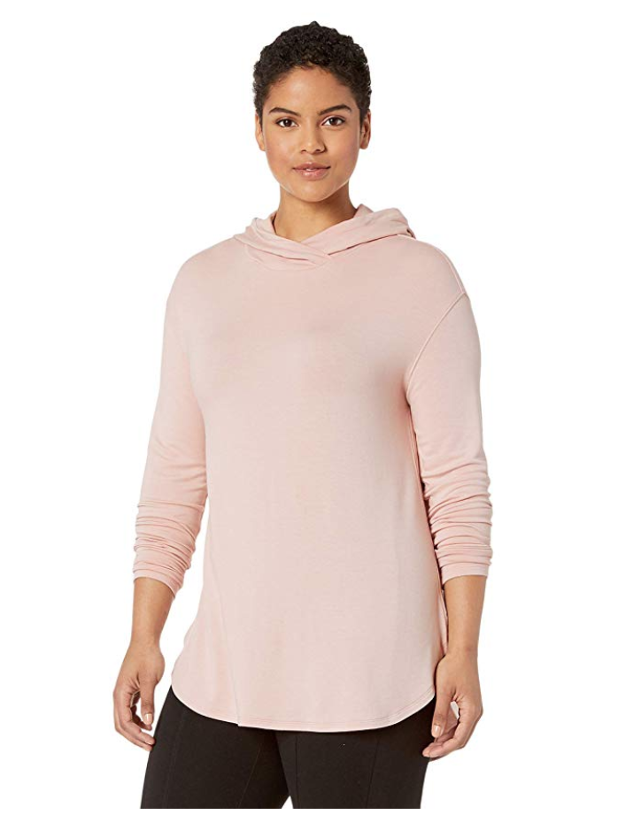 powder pink super soft plus size hoodie