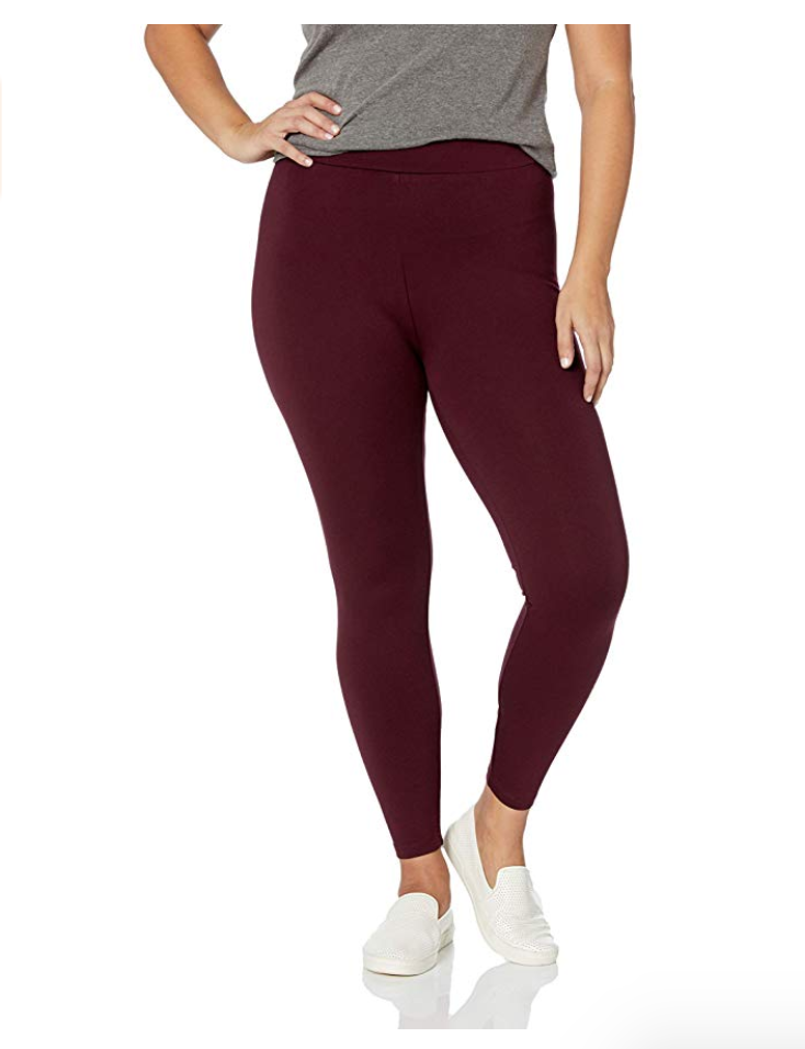 burgundy plus size leggings up to size 7x