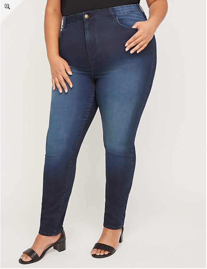 plus size dark jeggings up to size 36