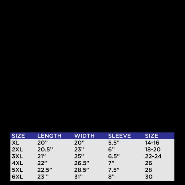 FGF Basics Crop Top Size Chart